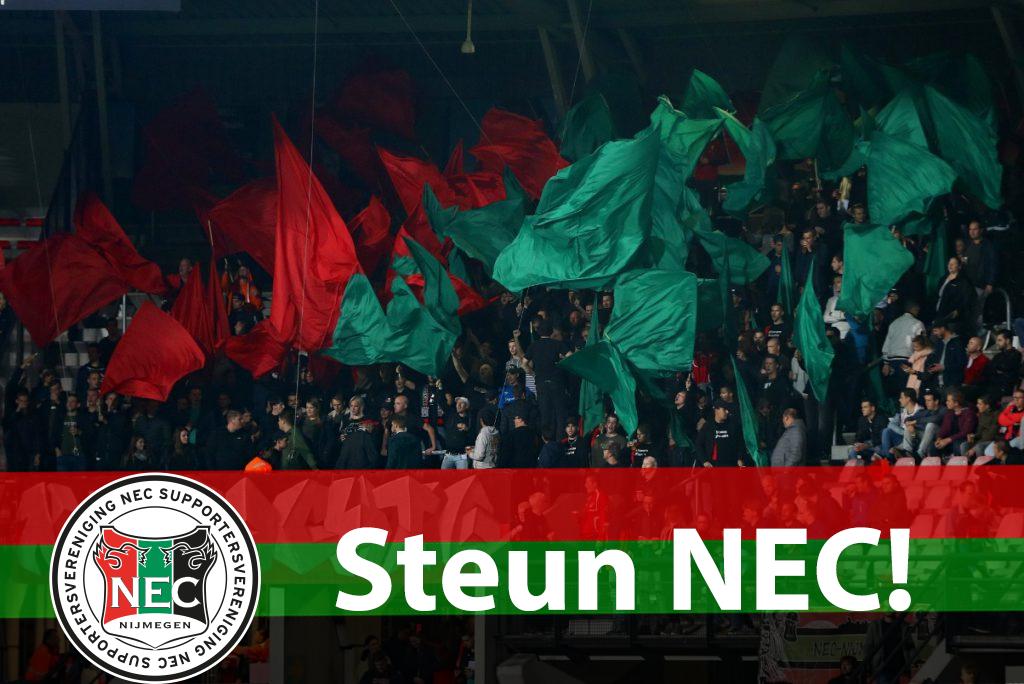 Afbeelding voor Steun NEC! Vraag je geld niet terug