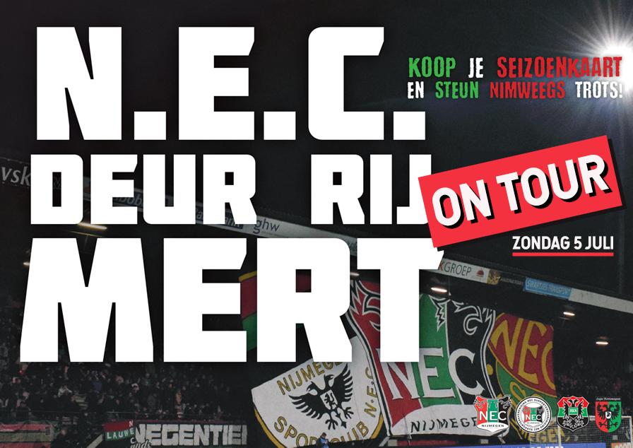 Afbeelding voor N.E.C. Deur Rij Mert On Tour!