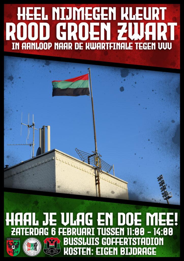 Afbeelding voor Heel Nijmegen kleurt rood groen zwart